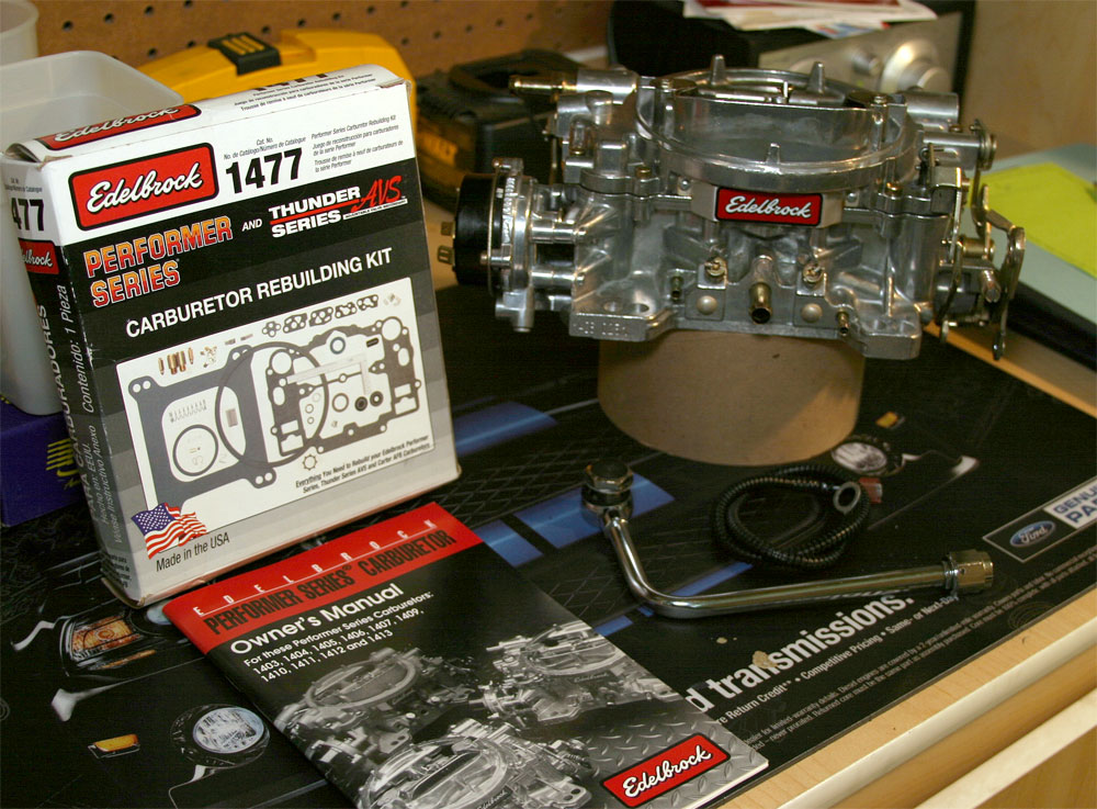 edelbrock carburetor fuel line kit  edelbrock  free engine Instruction Manual Owner's Manual